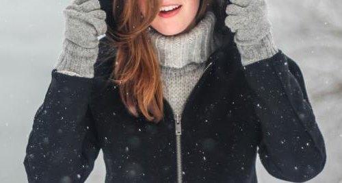 Mädchen im Winter