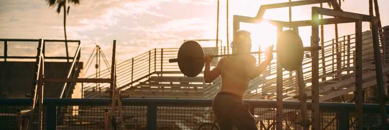 Open Air Bodybuilding unter freiem Himmel