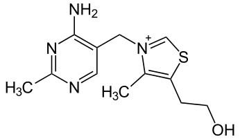 Strukturformel von Vitamin B1