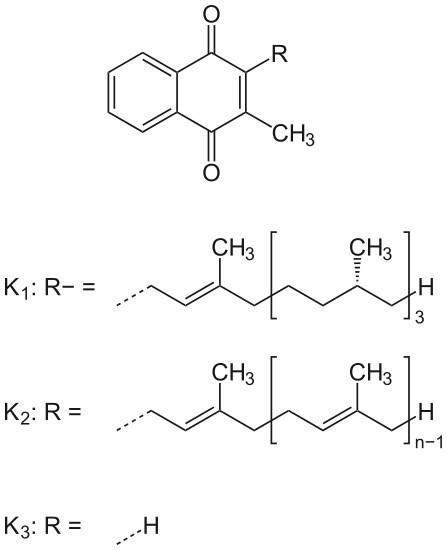 Vitamin K: Formel